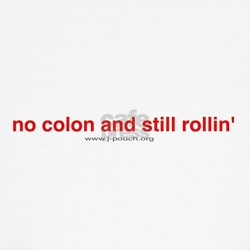 'no colon and still rollin' fitted T-Shirt