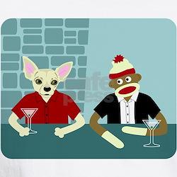 Chihuahua & Sock Monkey Martini Shirt
