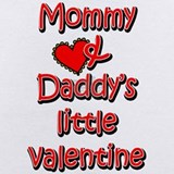 Mommy and daddy's little valentine Baby Bodysuits