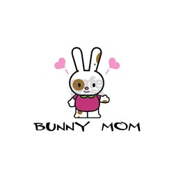Bunny Mom White T-shirt