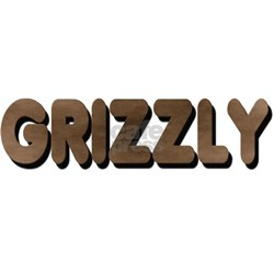 GRIZZLY-BROWN FELT LOOKING pocket areaWhite Tshirt