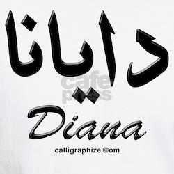 Diana Arabic Calligraphy White T-shirt