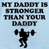 My daddy is strong Baby Bodysuits