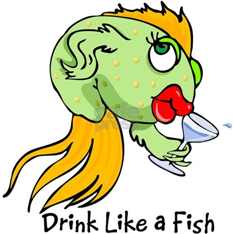 drink like a fish tote bag by terrypond