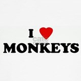 I love monkeys T-shirts