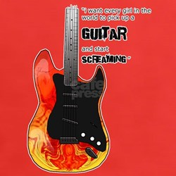 Screaming Guitar Tee