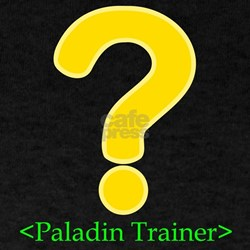 Paladin Trainer Black T-Shirt for gamers