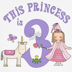 Unicorn Princess 3rd Birthday T