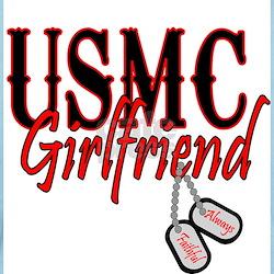 USMC Dog Tag Girlfriend T-Shirt