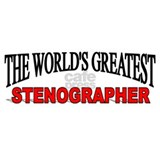 """The World's Greatest Stenographer"" Coffee Mug"