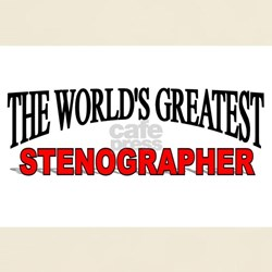"""The World's Greatest Stenographer"" T-Shirt"