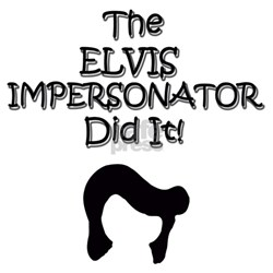 DAD ELVIS IMPERSONATOR - Shirt - w/b