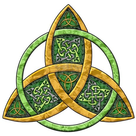 Celtic Trinity Knot Rectangle Decal by artoffoxvox