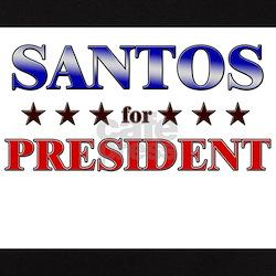 SANTOS for president Tee