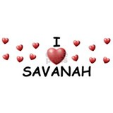 I Love Savanah - Mug