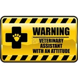 Warning Veterinary Assistant Mug