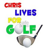 Chris Lives for Golf - Mug