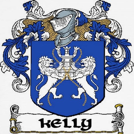 Kelly Coat Of Arms Throw Pillow By Irishcountry