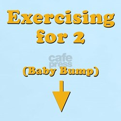 """Exercising for 2"" T-Shirt"