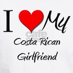 I Love My Costa Rican Girlfriend Shirt
