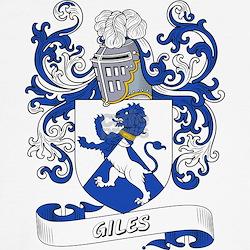 Giles Family Crest Pillows Giles Family Crest Throw