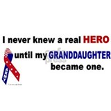 Never Knew A Hero.....Granddaughter (ARMY) Mug