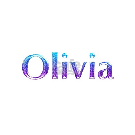 Glitter Name Olivia Bbq Apron By Snatchit