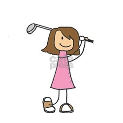 Unique Girls golf Tee