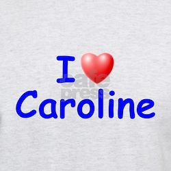 I Love Caroline (Blue) T-Shirt