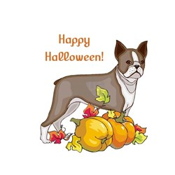 Happy Halloween Boston Terrier Tee