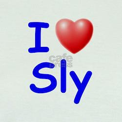 I Love Sly (Blue) T