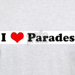 I Love Parades Ash Grey T-Shirt