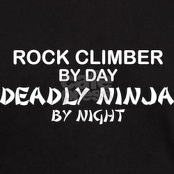 Rock Climber Deadly Ninja T-Shirt