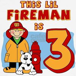 Fireman 3rd Birthday T
