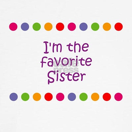 Im The Favorite Sister Womens Cap Sleeve Tshirt Jpg Color