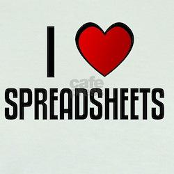 I LOVE SPREADSHEETS T