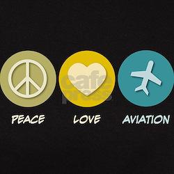 Peace Love Aviation Tee