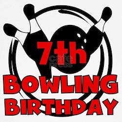 7th Bowling Birthday T-Shirt
