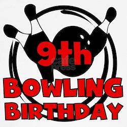 9th Bowling Birthday T-Shirt