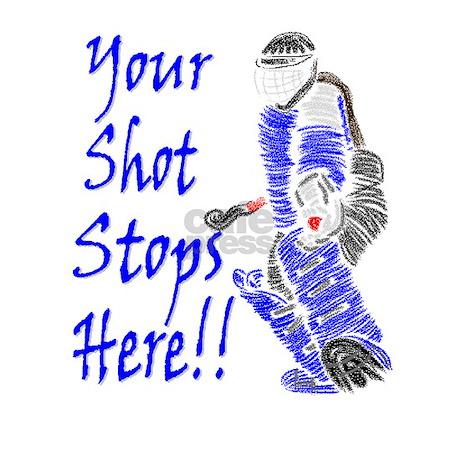 Field Hockey Goalie Rectangle Sticker BluejpgcolorWhiteheight460 460x460