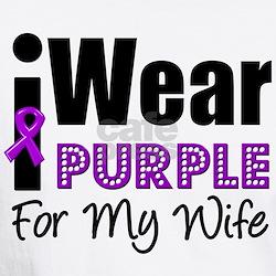 Purple Ribbon Wife Shirt