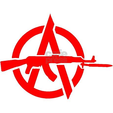Ak 47 Anarchy Symbol Rectangle Decal By Redanarchyak47