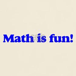 Math is fun! (blue) [Light T-shirt]