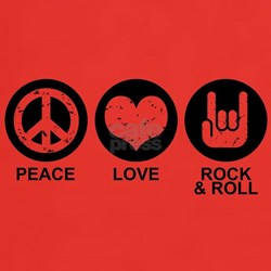 Peace Love Rock and Roll T-Shirt
