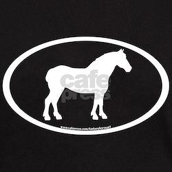 Draft Horse Oval T-Shirt