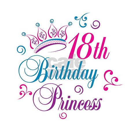 18th Birthday Princess Ornament Round By Letscelebrate