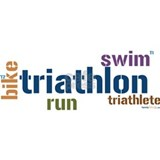 Triathlon Text - Blue Mug