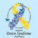 Down syndrome butterfly t shirt T-shirts