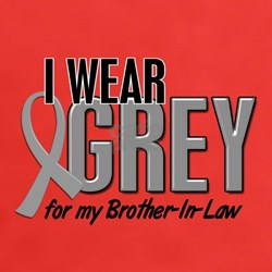 I Wear Grey For My Brother-In-Law 10 Tee
