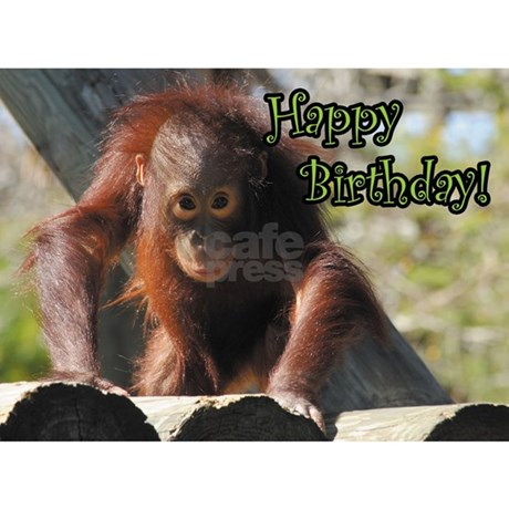 happy birthday orangutan greeting card jpg height 460 amp width 460    Happy Orangutan
